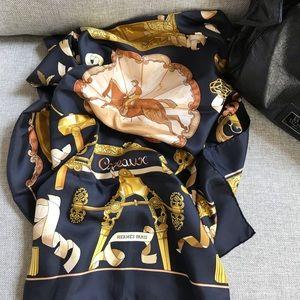 """Hermès Paris """"Copeaux""""gorgeous silk scarf"""